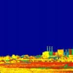 Una cámara térmica es capaz de detectar el espectro electromagnético infrarrojo.